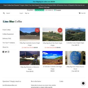 Lime Blue Coffee