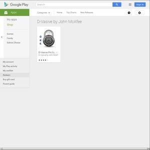 Google Play D-Vasive by John McAfee