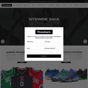 new concept 16e6e b3f42 30% off Sitewide @ Throwback Store - NBA Jerseys, Basketball ...