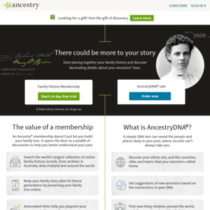 Ancestry: Deals, Coupons and Vouchers - OzBargain