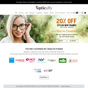 Optically