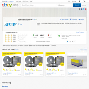 20% off 40 Selected Automotive Parts/4WD Sellers @ eBay