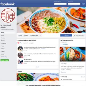 Mr Chen Beef Noodle