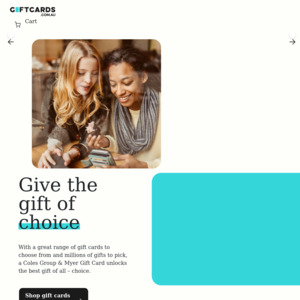 Coles Group & Myer Gift Cards