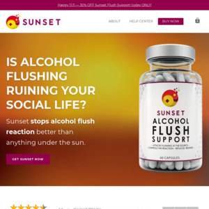 Sunset Alcohol Flush Support
