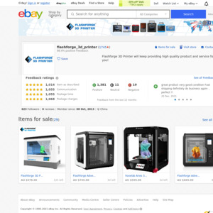 eBay Australia flashforge_3d_printer