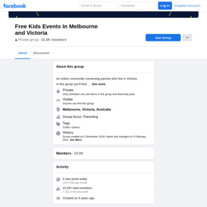 Free Kids Events In Melbourne and Victoria