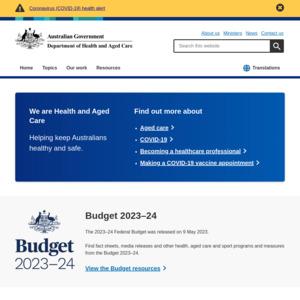 Department of Health, Australian Government