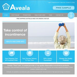 2x Free Samples of Disposable Pants, Pads and Bed Pads From Aveala
