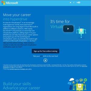 free microsoft virtualization 2 certification exam normally 206