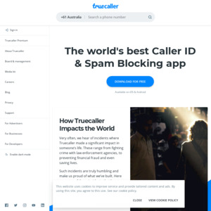 Android & iPhone] Truecaller Premium for 1 Year | FREE