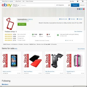 eBay Australia luvyourphone