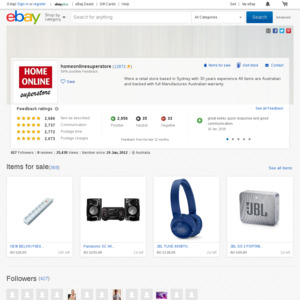 eBay Australia homeonlinesuperstore