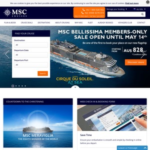 There are 4 active MSC Cruises coupons, promo codes and voucher codes updated on 30, 11, at get-raznoska.tk Get them free and save money today. MSC Cruises is an online shopping store that gives you access to most of the best deals.
