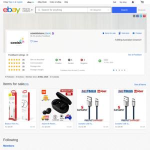 eBay Australia ozwishstore