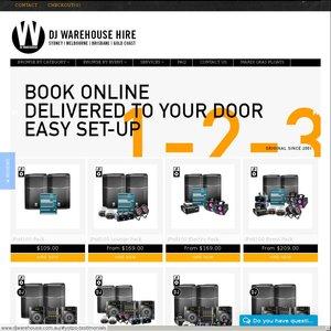 DJ Warehouse Hire