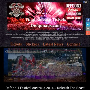 Discounted Defqon 1 Tickets (Guaranteed Cheapest Price) $175