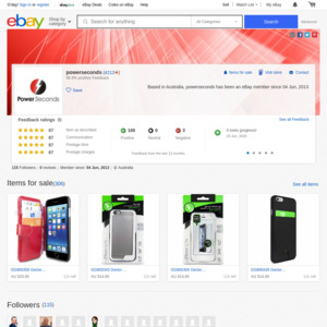 eBay Australia powerseconds