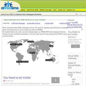 Send Free International SMS Text Messages Service Worldwide - OzBargain