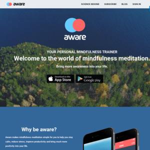 awaremeditationapp.com