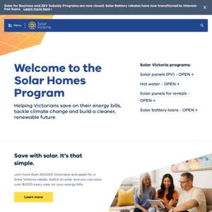 Solar Victoria: Solar Homes Program