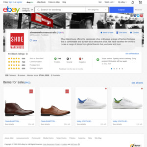 eBay Australia shoewarehouseaustralia