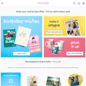 Moonpig personalised greeting cards buy one card get one free moonpig m4hsunfo