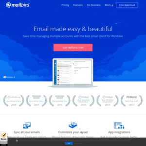 Mailbird Pro Email Client - 40% to 99% off for Social Media Share