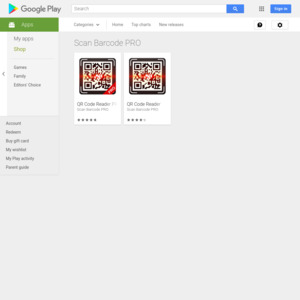 Google Play Scan Barcode PRO
