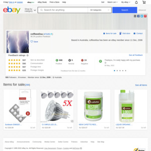 eBay Australia coffeeelisa