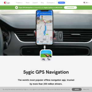 Sygic Navigation Lifetime Software for Android or iOS 19 99