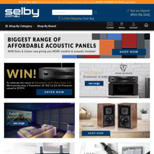 Selby Acoustics: Deals, Coupons and Vouchers - OzBargain