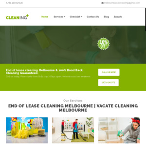 Melbourne Vacate Cleaning