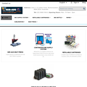 MIR-AUS Continuous Ink Supply System