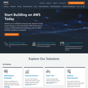 Amazon Web Services AWS $1000 Credit (Requirements: Company URL +