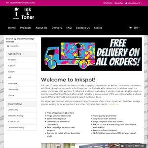 Inkspot Online Store