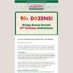[NSW: Penrith] Krispy Kreme Buy Any One Dozen and Get a 2nd Dozen of Original Glazed for $0.10