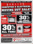 Domayne Computer & Electrical 'Moving Out Sale' (Caringbah, Castle Hill, Liverpool, Penrith NSW)