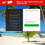 Win a 14 Day 5 Star Cruise to The South Pacific Valued at $4516 from Webjet