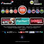 Domino's Any Pizza 3 Pizza,1x Garlic Bread and 1x 1.25L Drink $25 Delivered