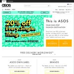 ASOS - 20% off Everything (Retail + Sale Items)