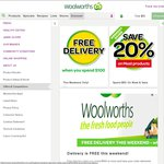 Free Delivery at Woolworths Online This Weekend When Spending $100 Min (Save $11)