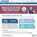 Receive up to $50 Store Credit When You Click & Collect - The Good Guys