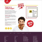 20% off Delivery Hero for Students (with Emails Ending in.edu.au) - with Min $30 Spend