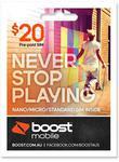 Boost Mobile $20 & $40 Starter Kits Half Price Delivered @ JB Hi-Fi