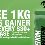 Venom Protein Bonus 1kg Mass Gainer (Worth $29) with Every $30+ Purchase (Delivery Included)