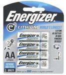 Energizer Lithium 4x AA Battery Pack $2 @ BCF - Limited Click & Collect Only