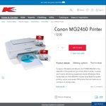 Canon PIXMA MG2460 Printer $12 @ Kmart