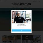 Grand Ambition Australia Day Sale 25% Off Storewide