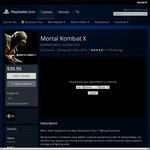 Mortal Kombat X PS4 - $39.95 AU PSN + More Price Drops